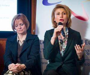 """თამარ ტალიაშვილი ბრიუსელში ევროპარლამენტის არჩევნებთან დაკავშირებით გამართულ კონფერენციაზე """"ქალები პოლიტიკაში"""" სიტყვით გამოვიდა"""
